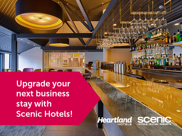 Upgrade your next business stay with Scenic Hotels