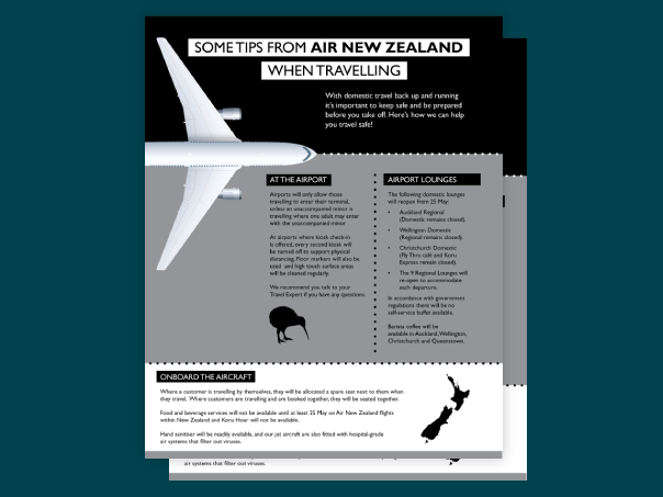Air New Zealand tips for travelling