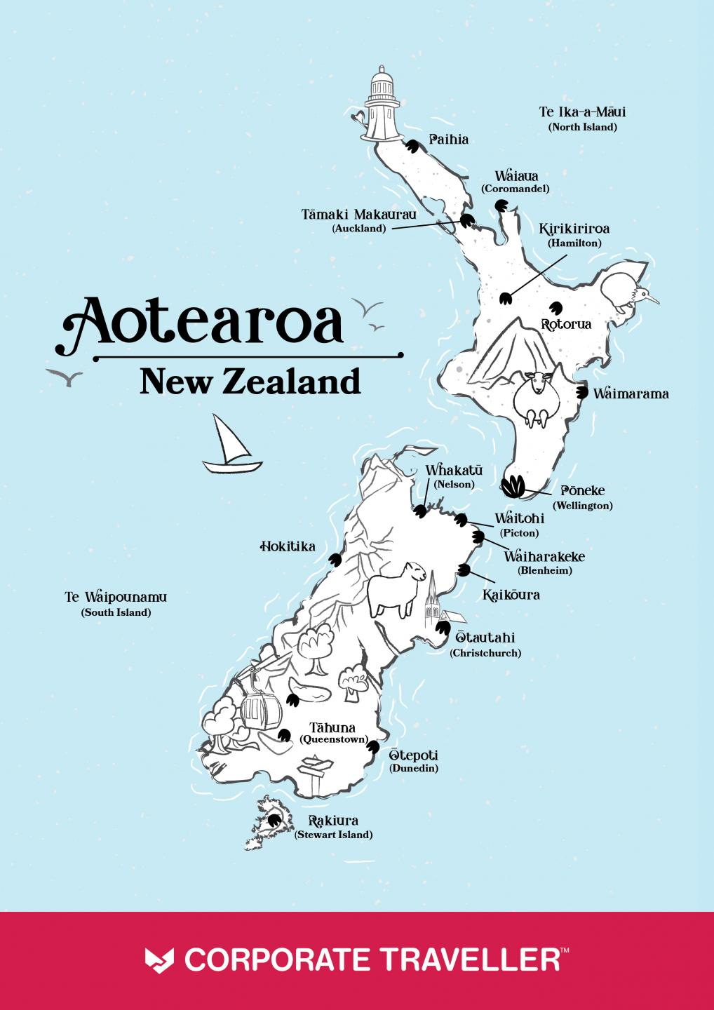 Maori Map of New Zealand