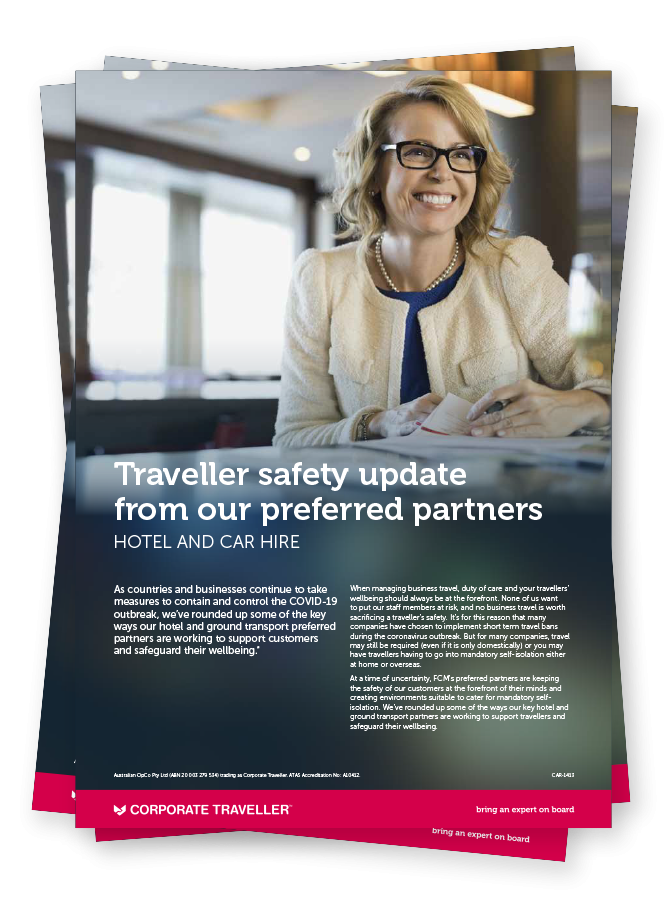 Traveller Safety Update from our Preferred Partners